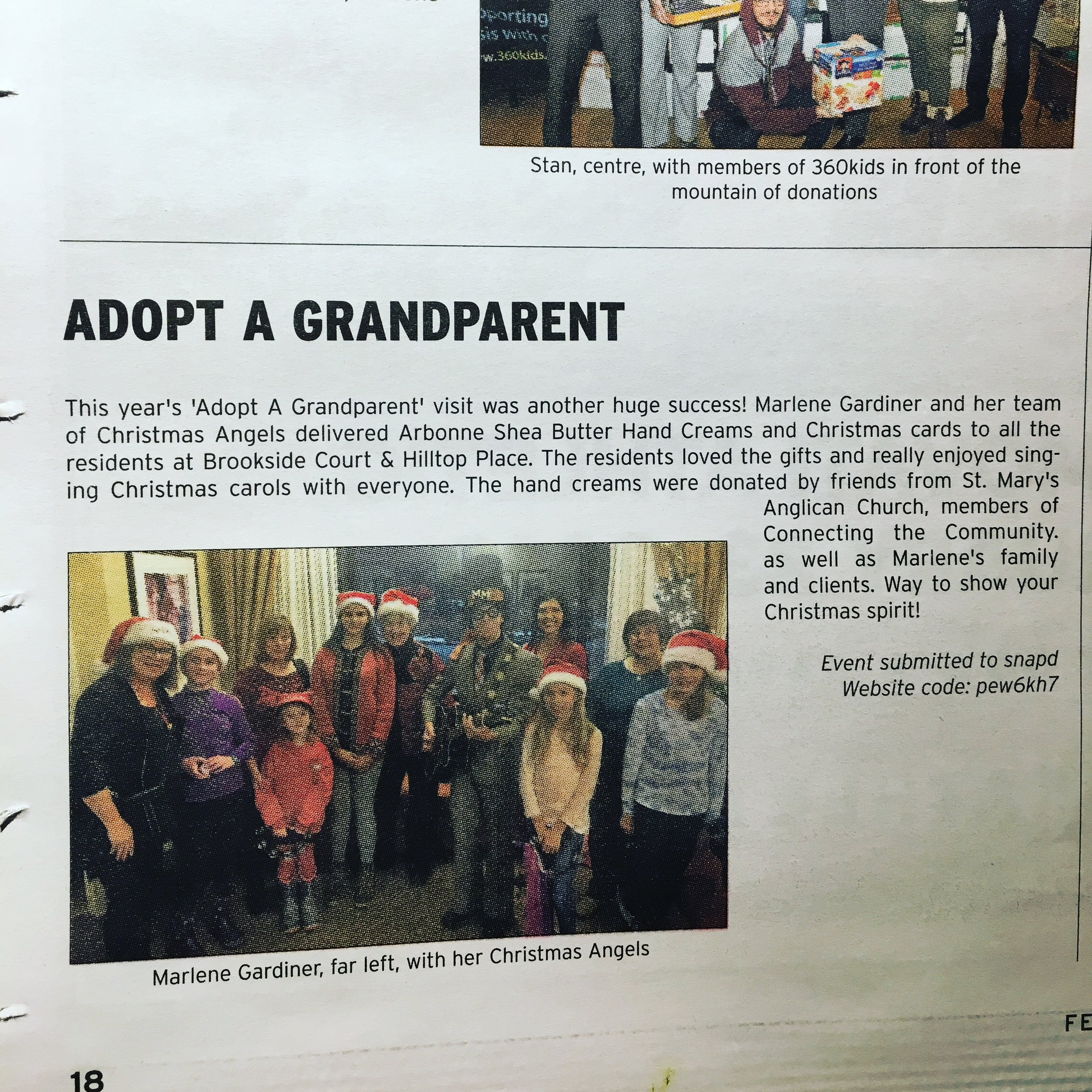 Marky Monday sings Christmas songs at Seniors home for 'Adopt A Grandparent' - SNAPD Richmond Hill FEB 2017.