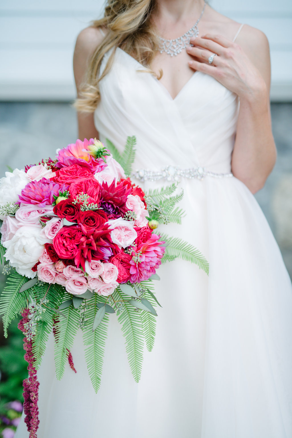 blush hayley paige modern bride pink red guelph bridal boutique