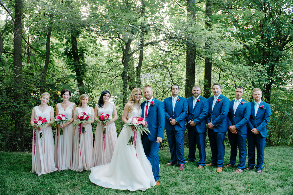 bridal party blush blue hayley paige bridal boutique guelph
