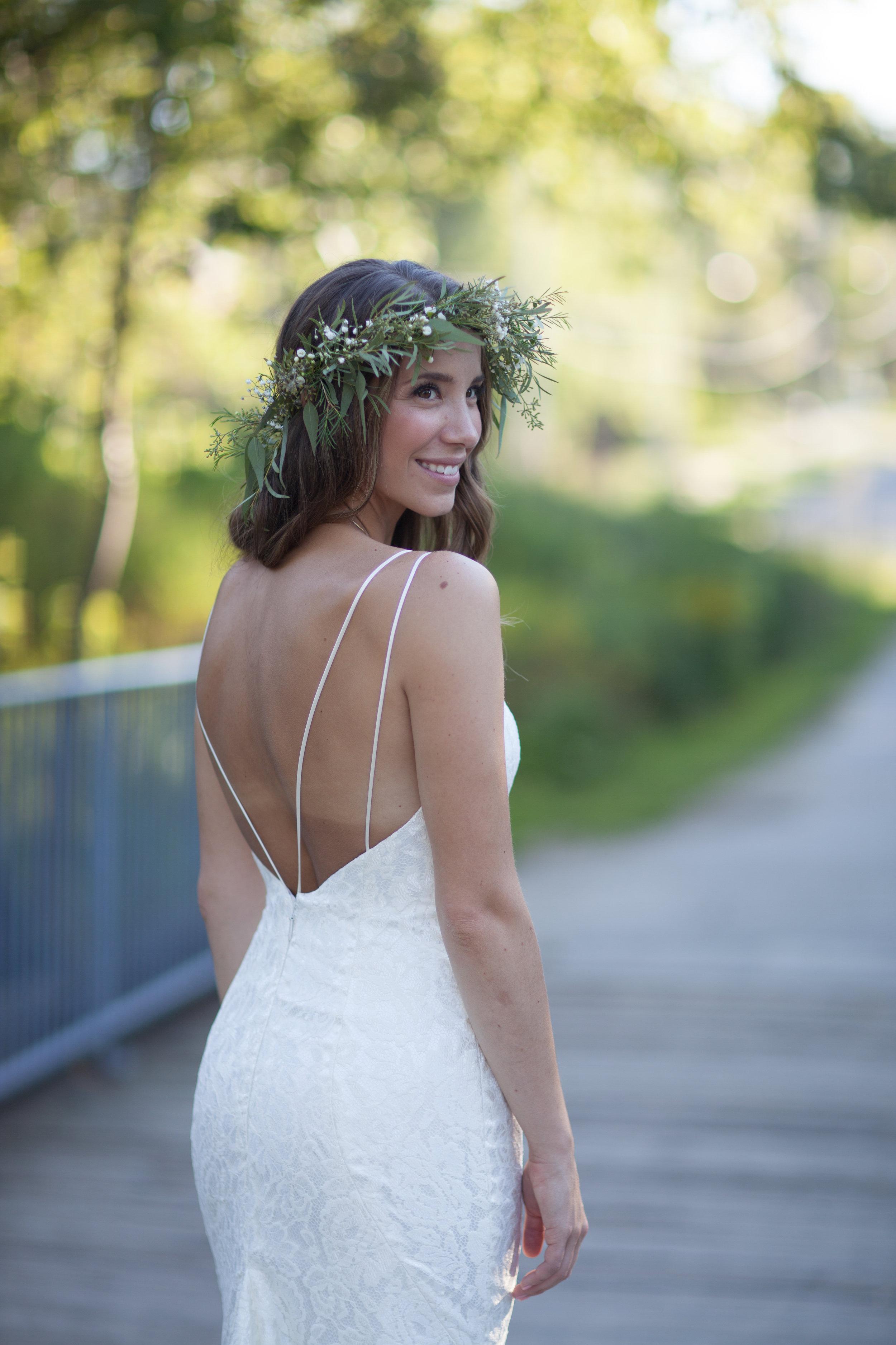 blush hayley paige flower crown goldie mill park bride guelph