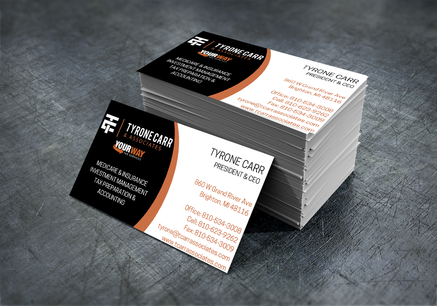 Business Cards - Tyrone Carr & Associates