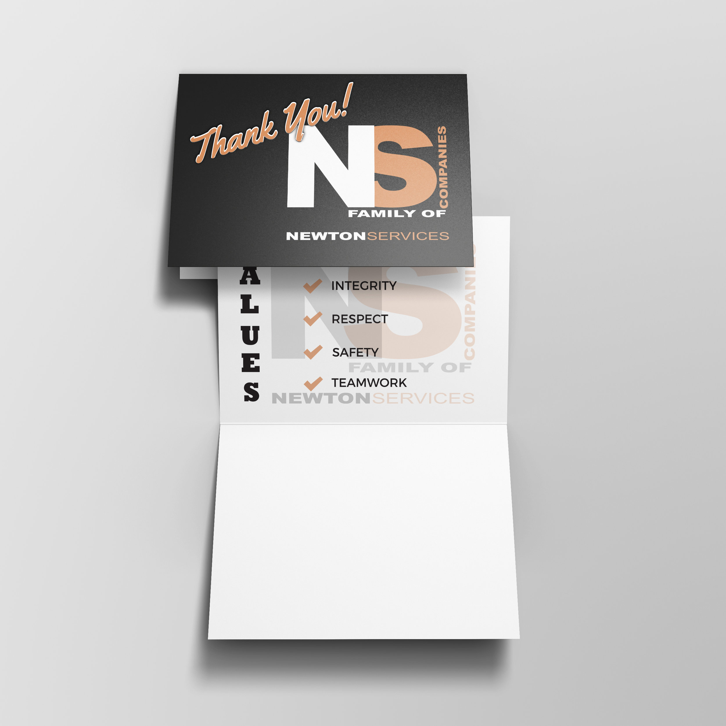 Branded Thank You Cards - Newton Services