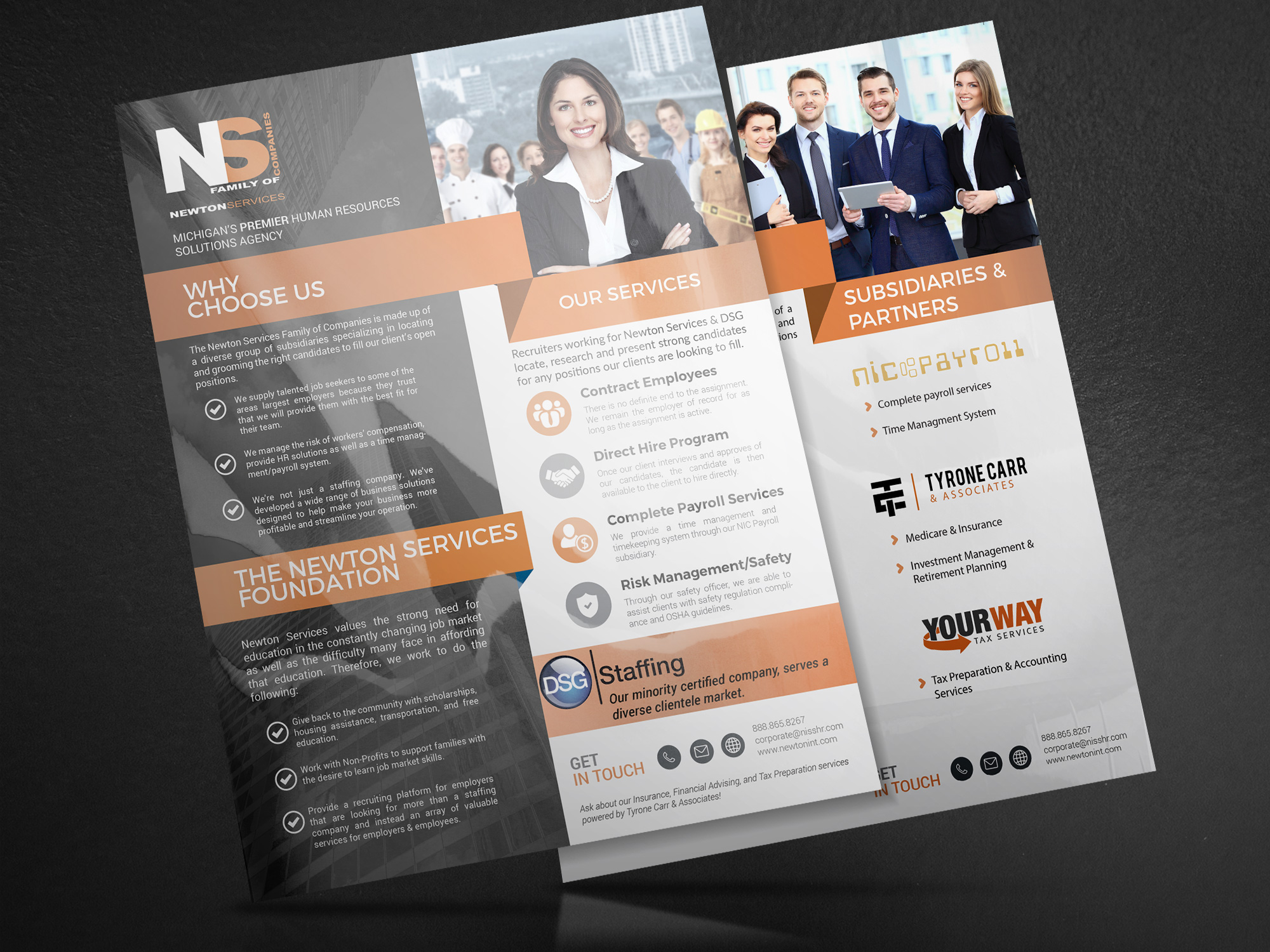 Branded Flyers - Newton Services