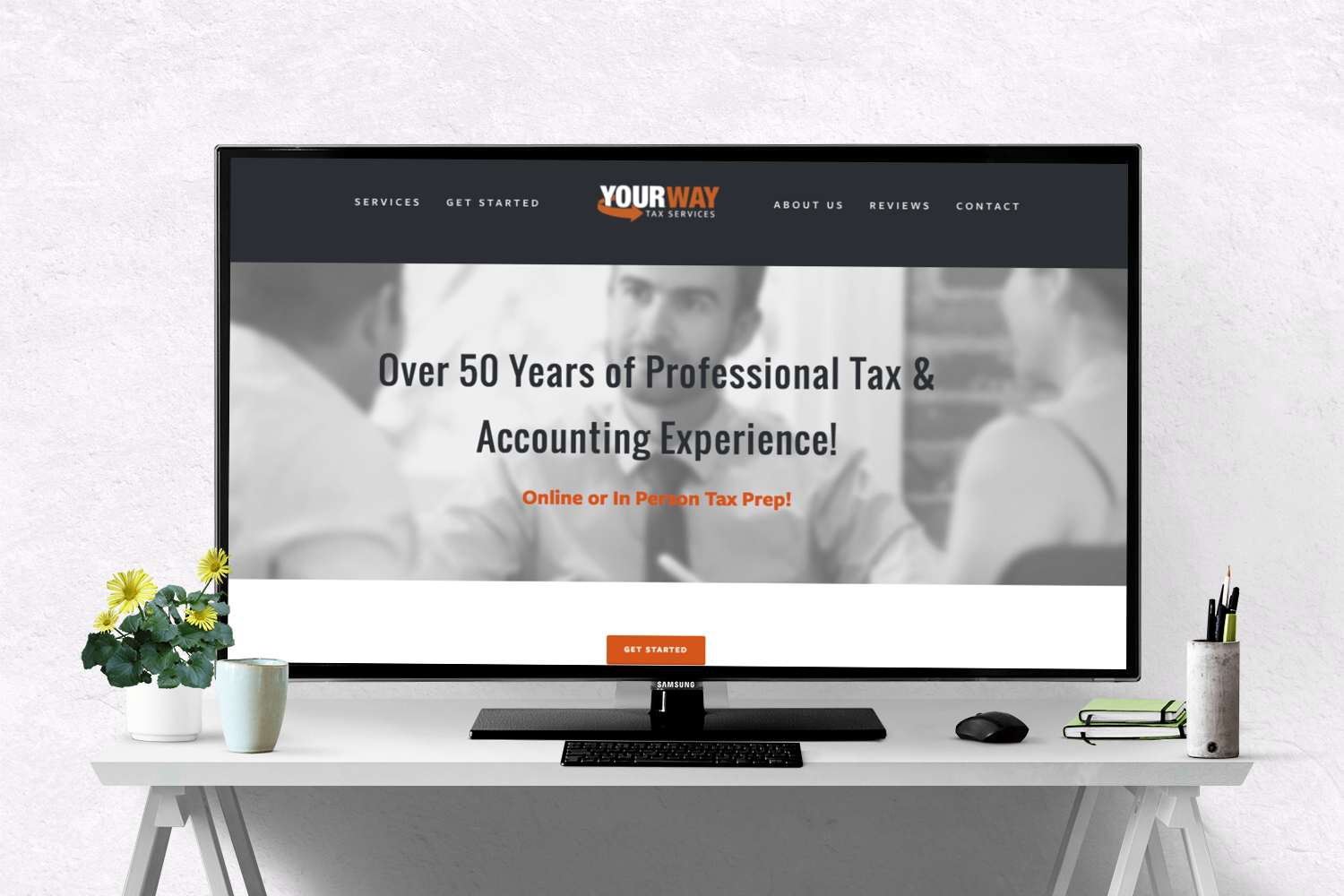 Design Consult & Content Creation, Ongoing Design Management -  www.yourwaytax.com    Original design executed by  Chad Morgan