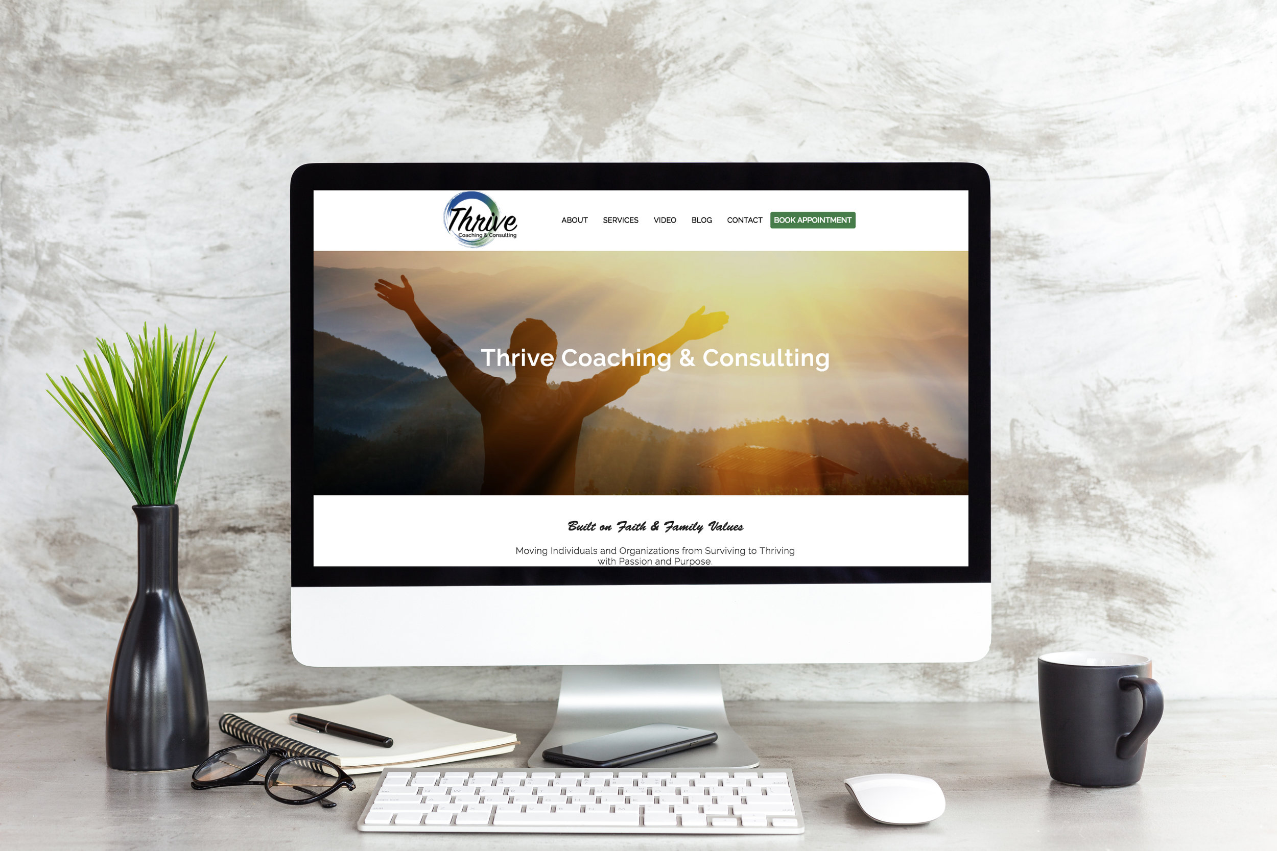 Website & Logo Design -  www.thrivecoaching.net