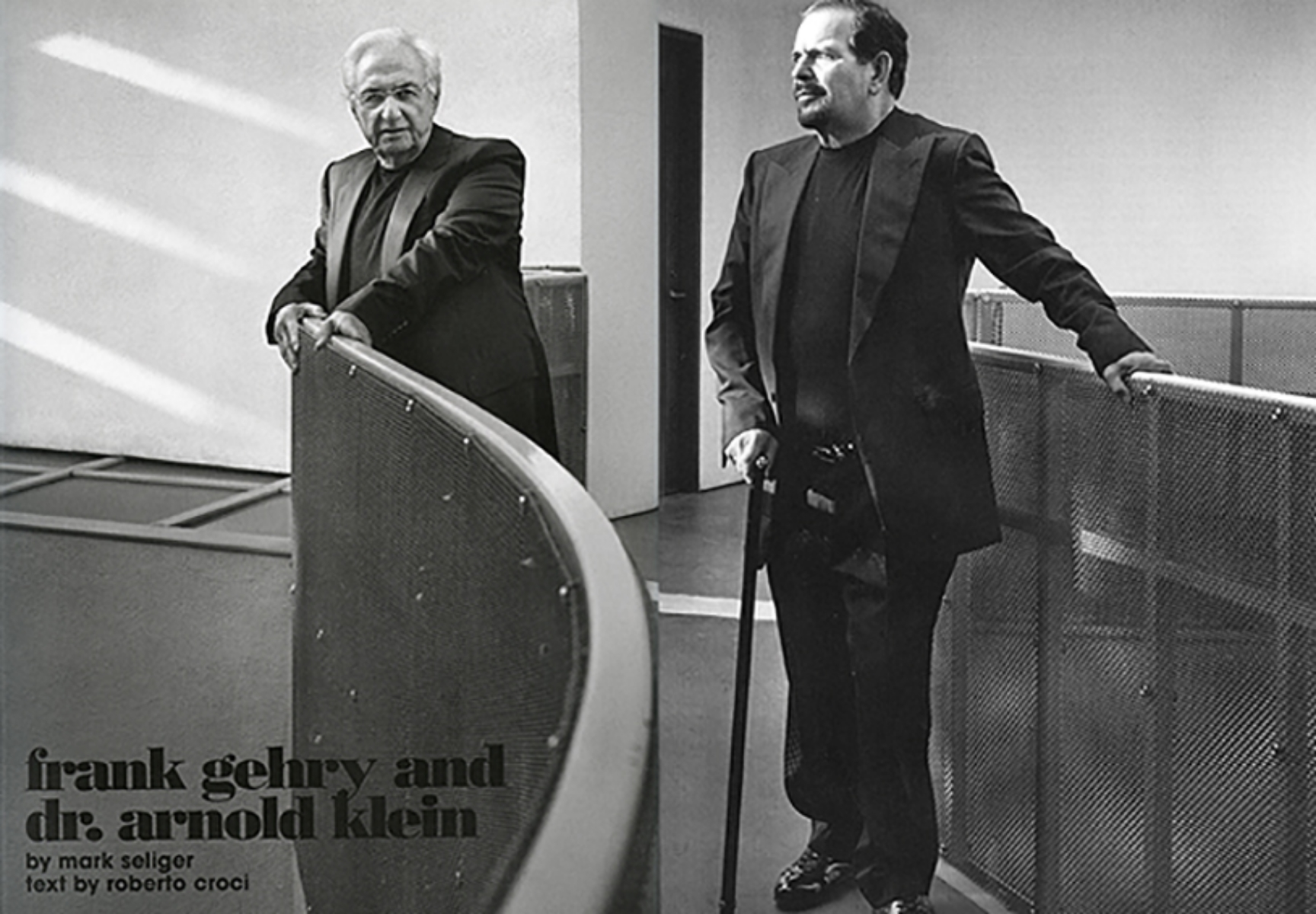 FRANK GEHRY & DR. ARNOLD KLEIN