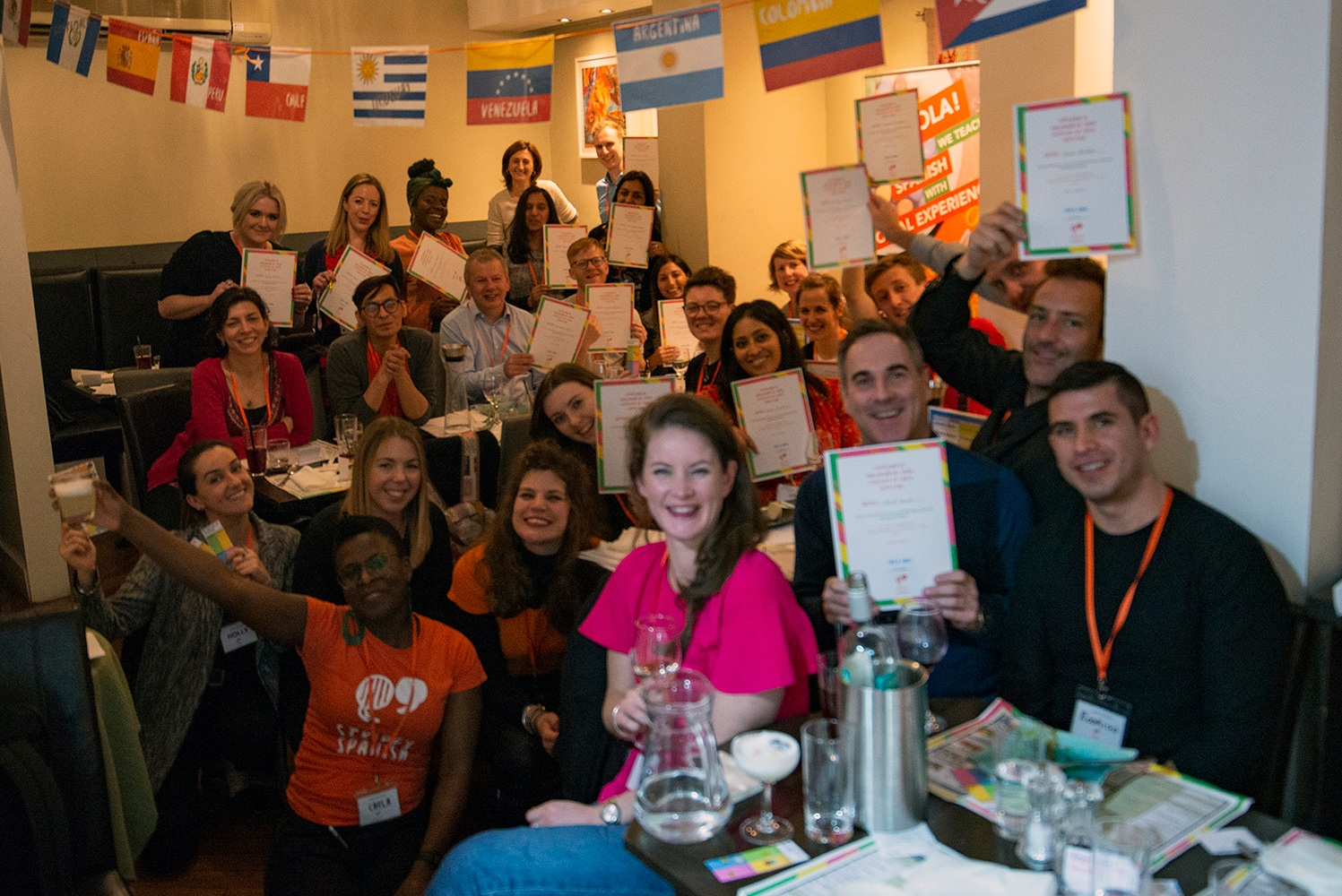 Level 1 Course students complete their course at a Peruvian restaurant - in April 2019