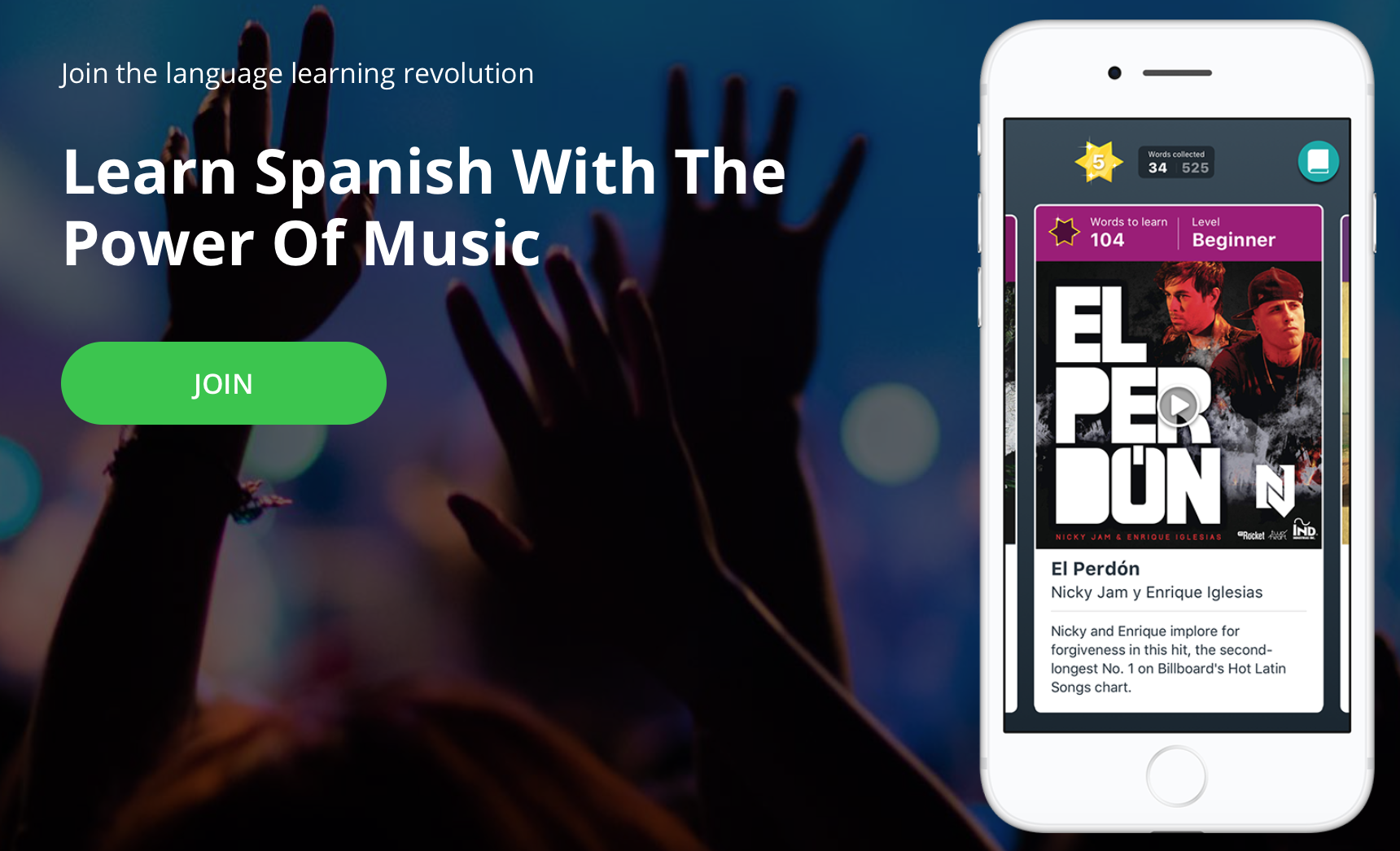 lyrica app to learn Spanish