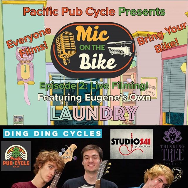 June 29th! @laundrytheband ! Everyone films! Bring your bike! @miconthebike Episode 2! LIVE FILMING! Thinking Tree Spirits 88 Jackson St. Eugene, Or 11:00am ! Huge thanks to our amazing Sponsors! @pacificpubcycle @thinkingtreespirits @studio541productions @dingdingcycles