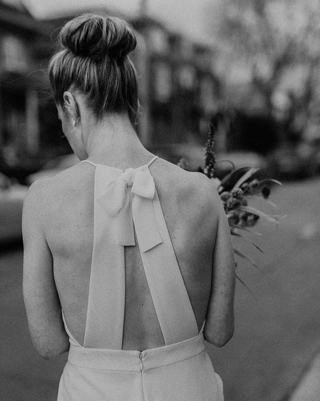 More bridal jumpsuits please! The beautiful @blairamelleaudet wearing @delphinemanivet 🖤