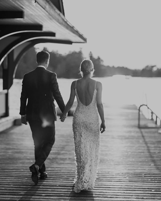 One of my favourite shots from Jo + Dave's Stony Lake Wedding 🖤 @jovos @theiacouture