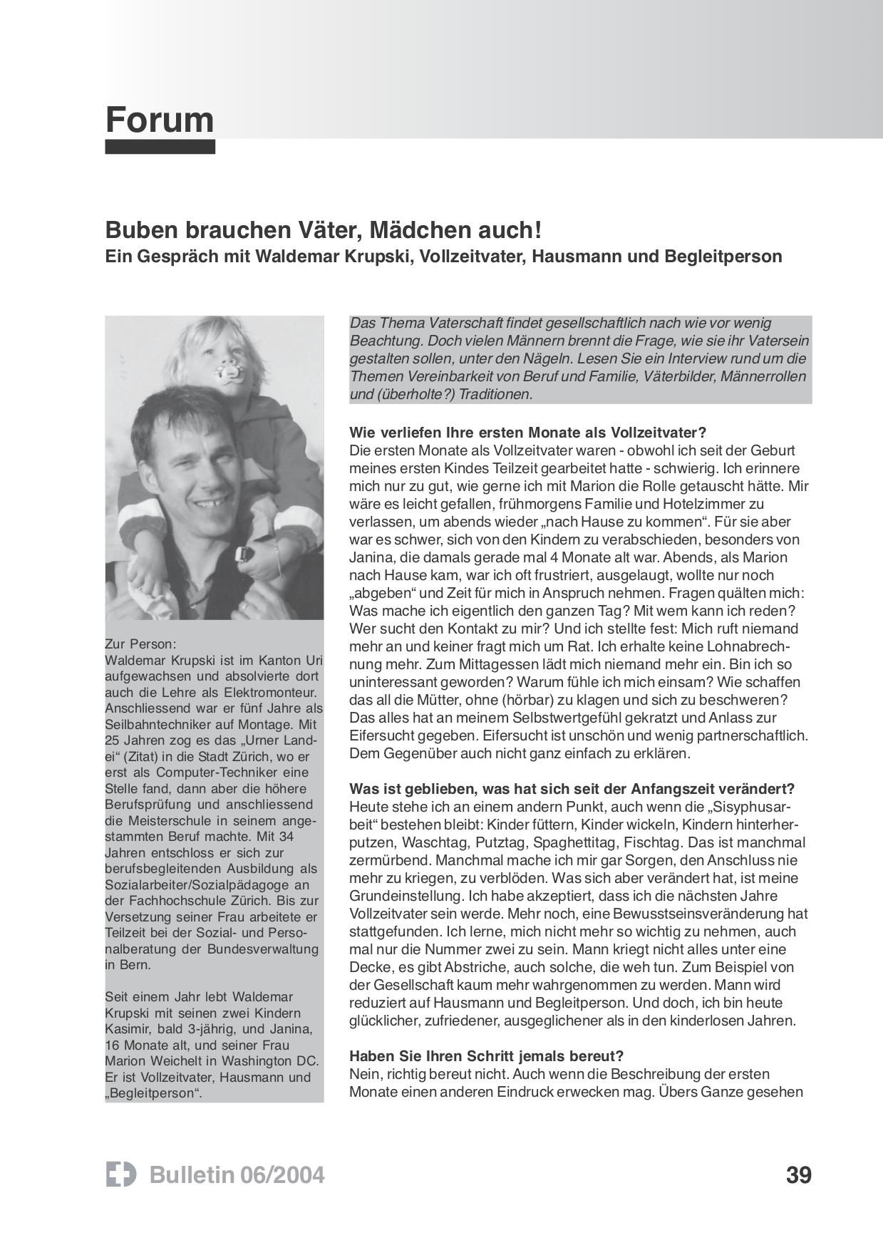 wakr online coaching Waldemar Krupski Buben brauchen Väter, Mädchen auch!