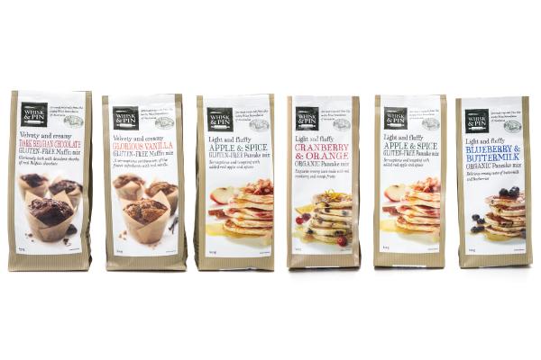 Whisk & Pin muffin and pancake mixes
