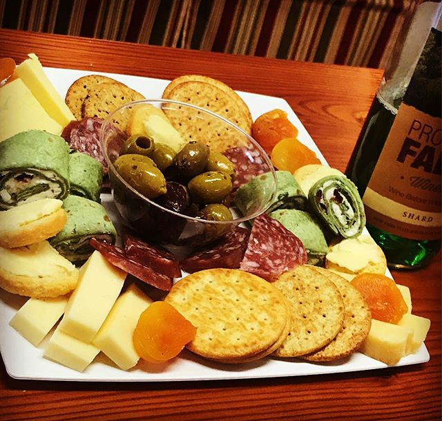 Cheese plates and Shamrock Shard at the winery today! Come catch the parade and party Prospect style! #wine #cheese #cheeseboard #cheeseplate