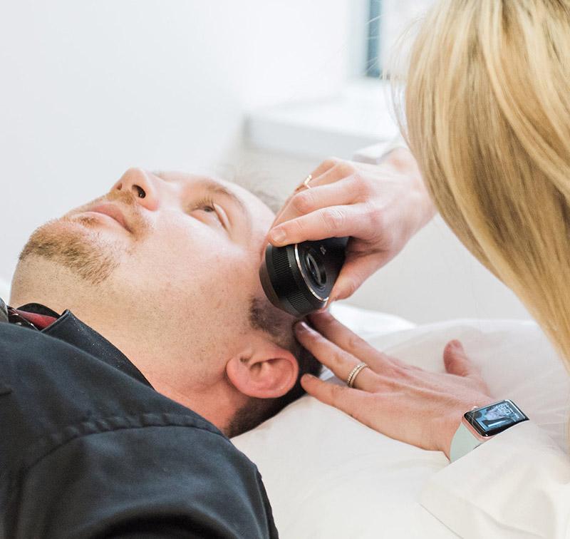 General Dermatology - • Acne• Contact Dermatatis• Cysts• Eczema and Atopic Dermatitis• Hairloss• Lipomas• Nevi (moles) and Dysplastic Nevi (abnormal moles)• Psoriasis• Rashes• Skin Infections• Vitiligo