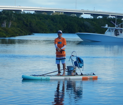Standup Paddle Board Fishing on a 2017 Bote Drift Inflatable