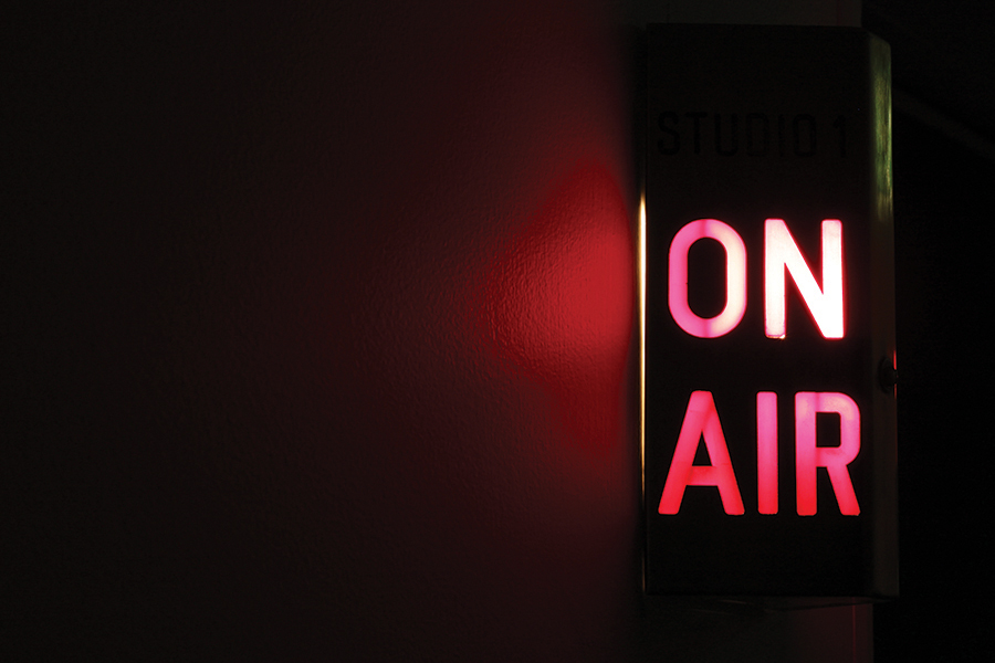 """""""On Air"""" by Remi Rough; this installation housed Sole DXB's radio line up."""