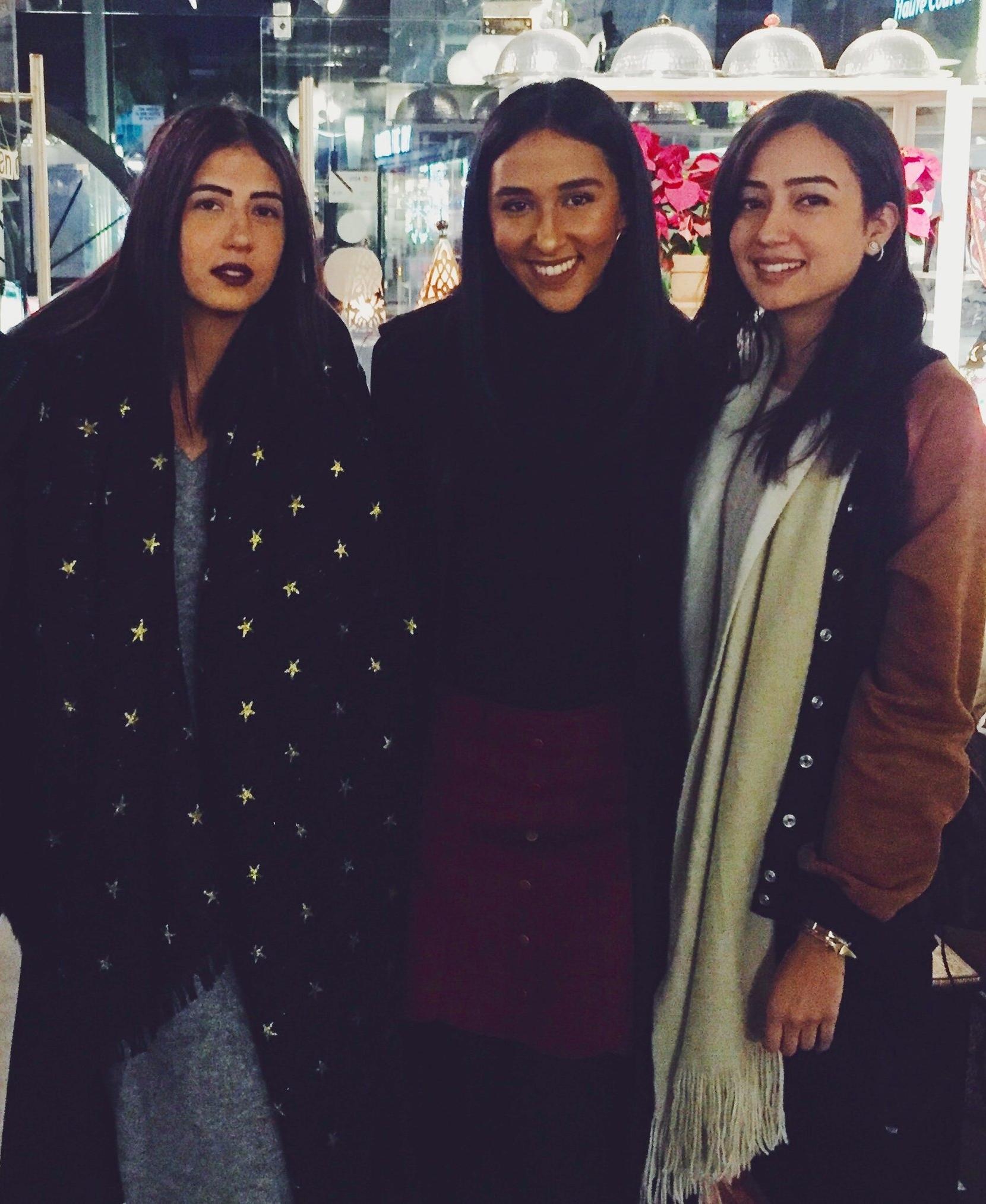 Left to right:  Mounaz Abdelraouf co-founder of OKHTEIN, Radwa El Ziki of Zedified, Aya Abdelraouf co-founder of OKHTEIN.