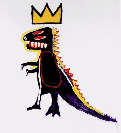 Dinosaur Crown by Basquiat, Image from tumblr