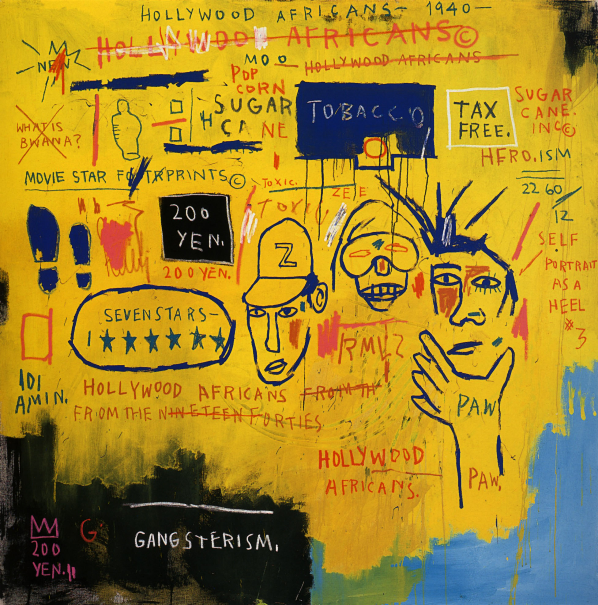 Hollywood Africans  by Basquiat