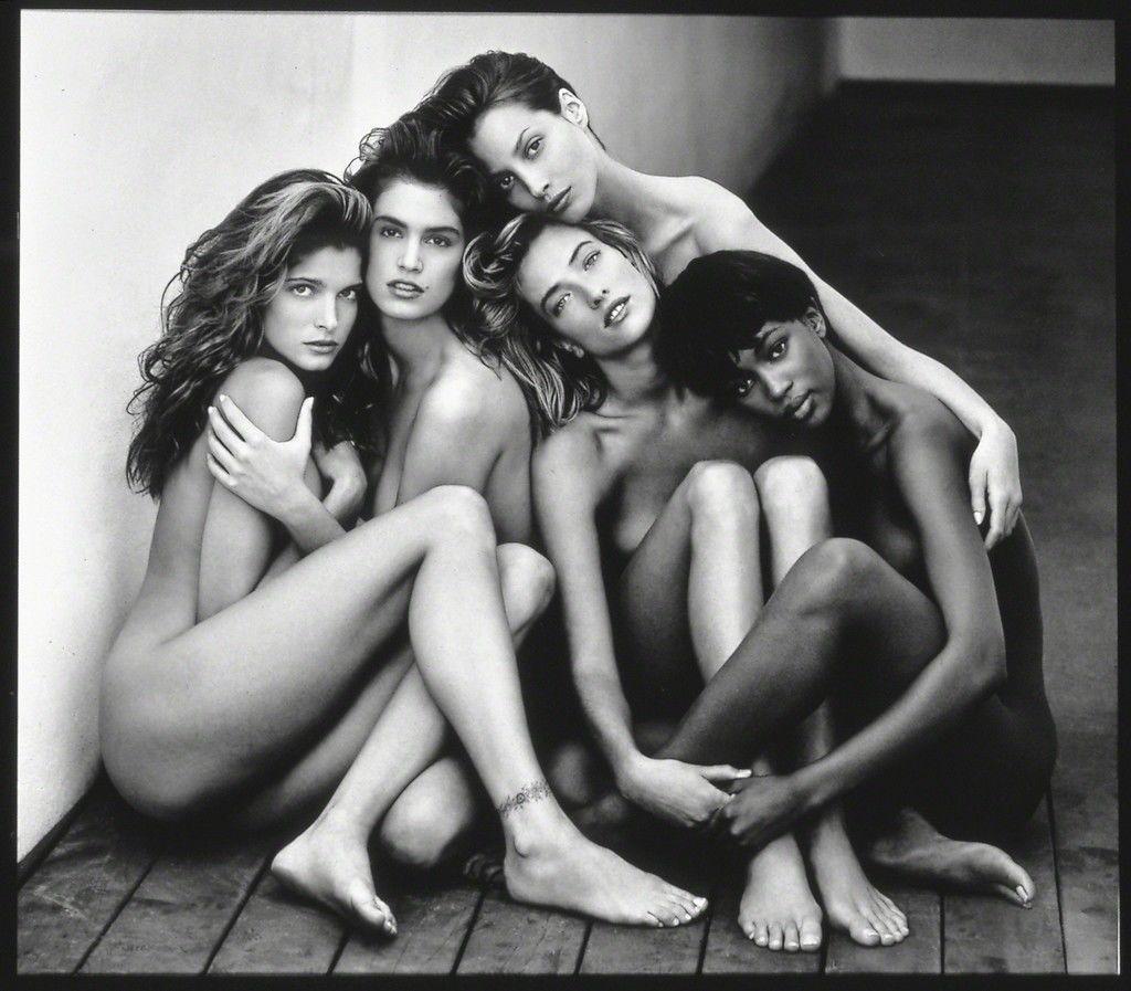 "Stephanie, Cindy, Christy, Tatjana, Naomi, Hollywood, 1989 ,1989  ""Herb Ritts"" at Museum of Fine Arts, Boston"