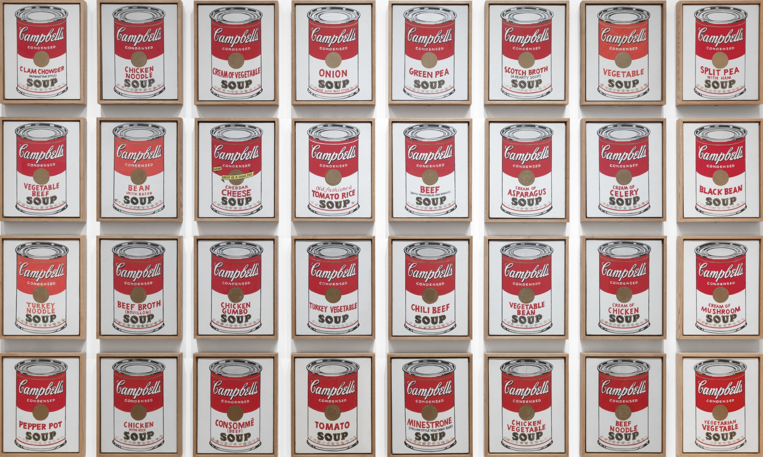 Andy Warhol, Campbell's Soup Cans, 1962, MoMA.