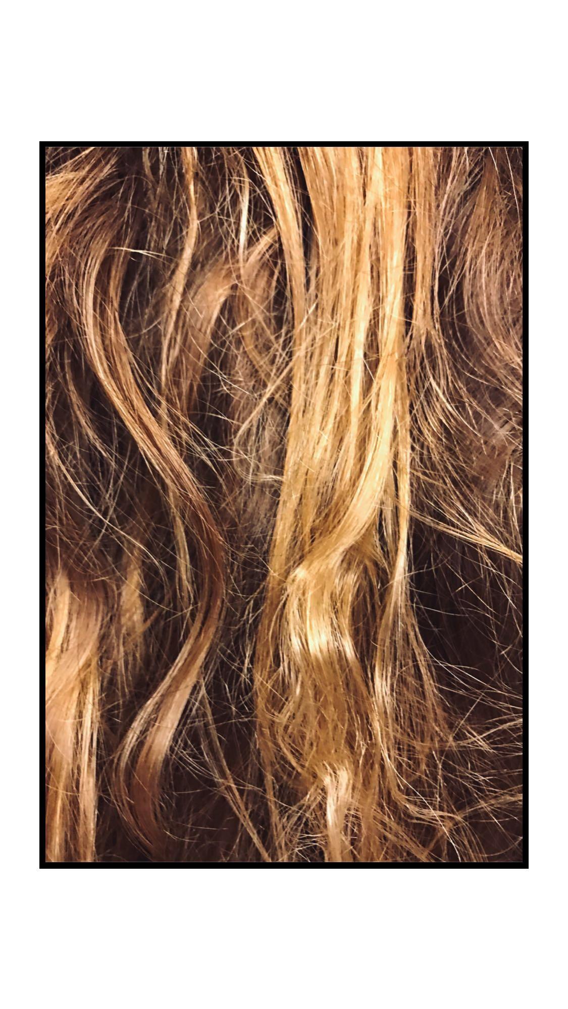 Beach hair, waves