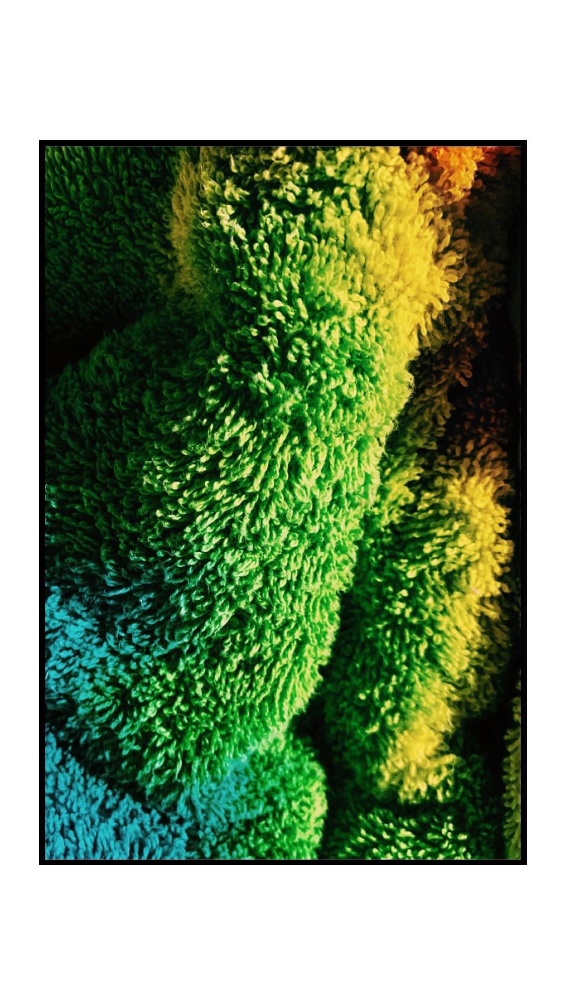 Tye-dye towel detail