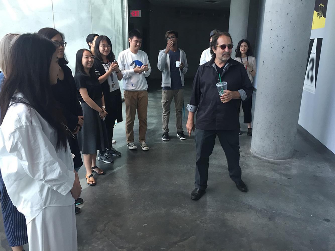 Rick Valicenti talks to first-year GD MFA