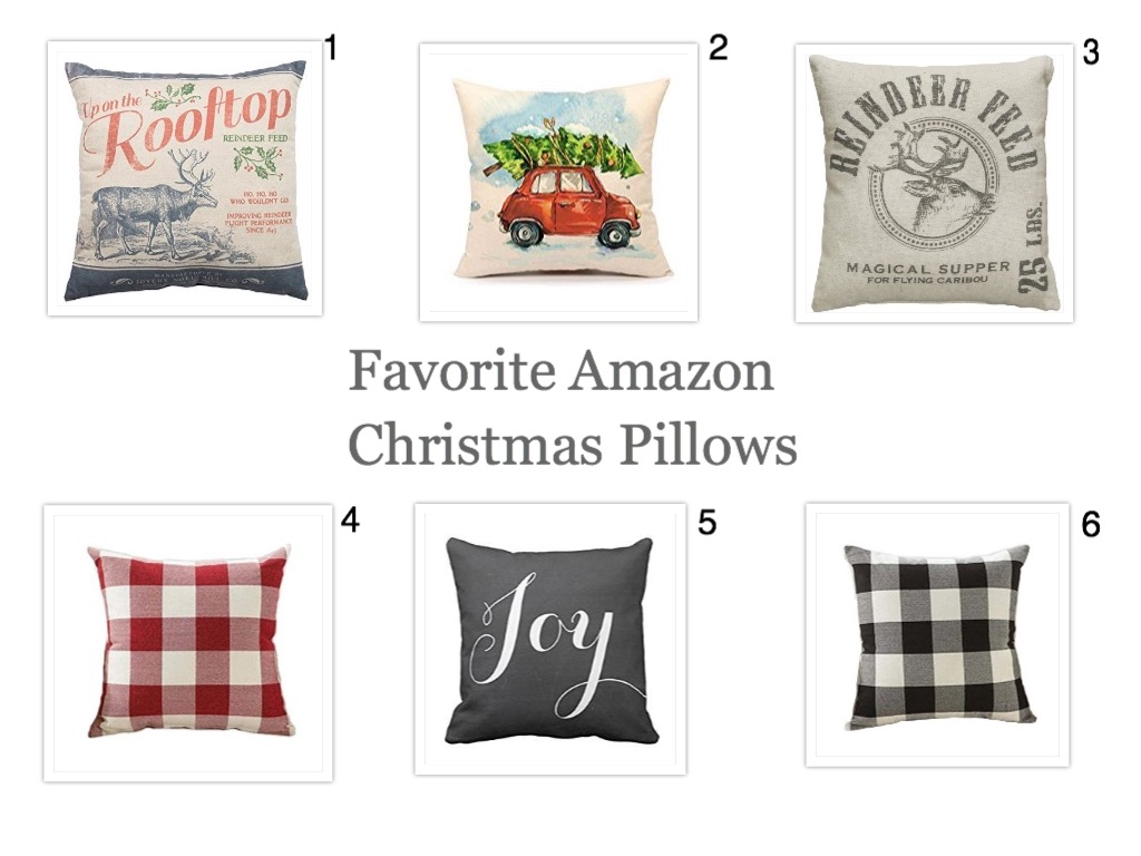 Favorite Christmas Pillows from Amazon