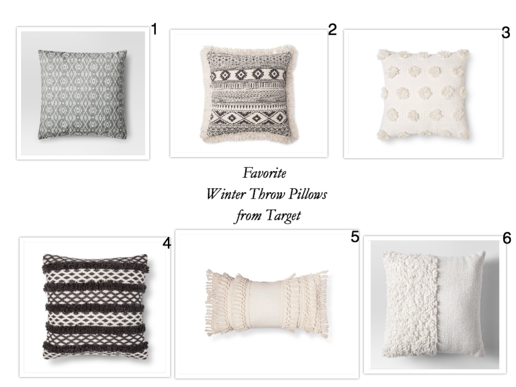 Favorite Winter Throw Pillows from Target