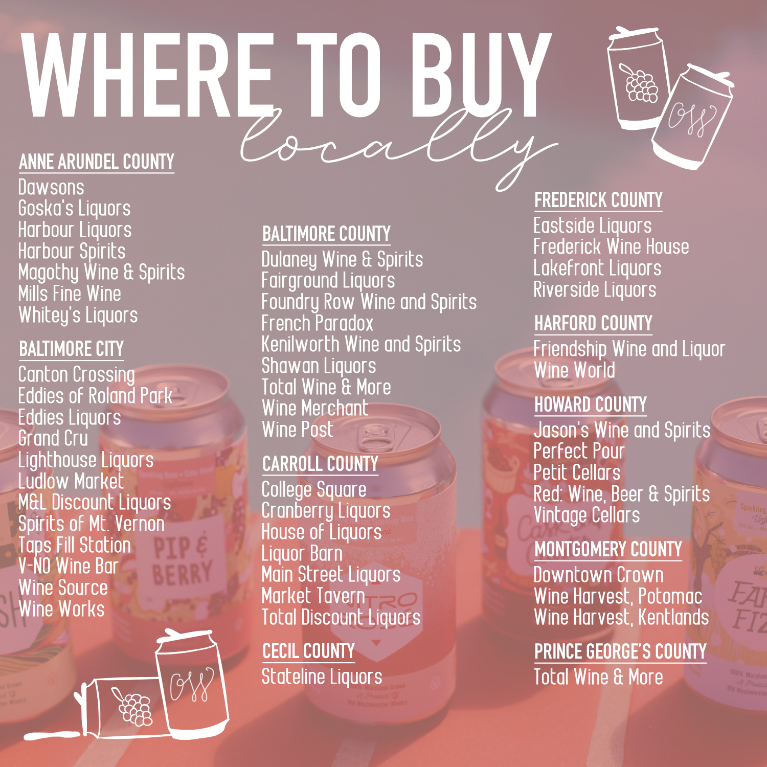 Don't see your favorite local shop on our list? Let us know!