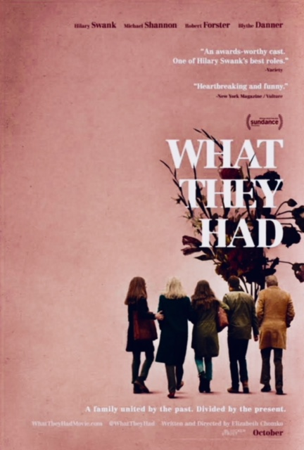 """Find Me Somebody"" in the film, ""What They Had"" starring Hilary Swank."