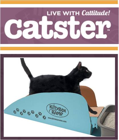 8  CAT-FRIENDLY PRODUCTS  YOU AND YOUR CAT WILL LOVE  Got a senior, arthritic, disabled or injured cat? You'll love the ramp that helps kitty get in and out of the litter box comfortably.