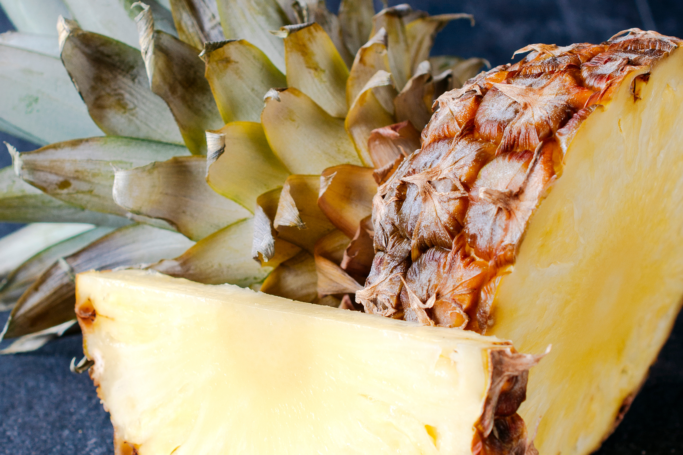 Pineapples - (10-12 mos.)Not a citrus fruit, pineapples are a good way to get much needed vitamin C over the winter. Since pineapple is high in citric acid, baby should be monitored for diaper rash when introducing this tropical treat. Consider pineapples when making kabobs to add a sweet flavor profile to any combination. Have your kids assist in defining colors, tastes and textures of ingredients - i.e. fibrous, sweet and tart - building vocabulary while building kabobs.