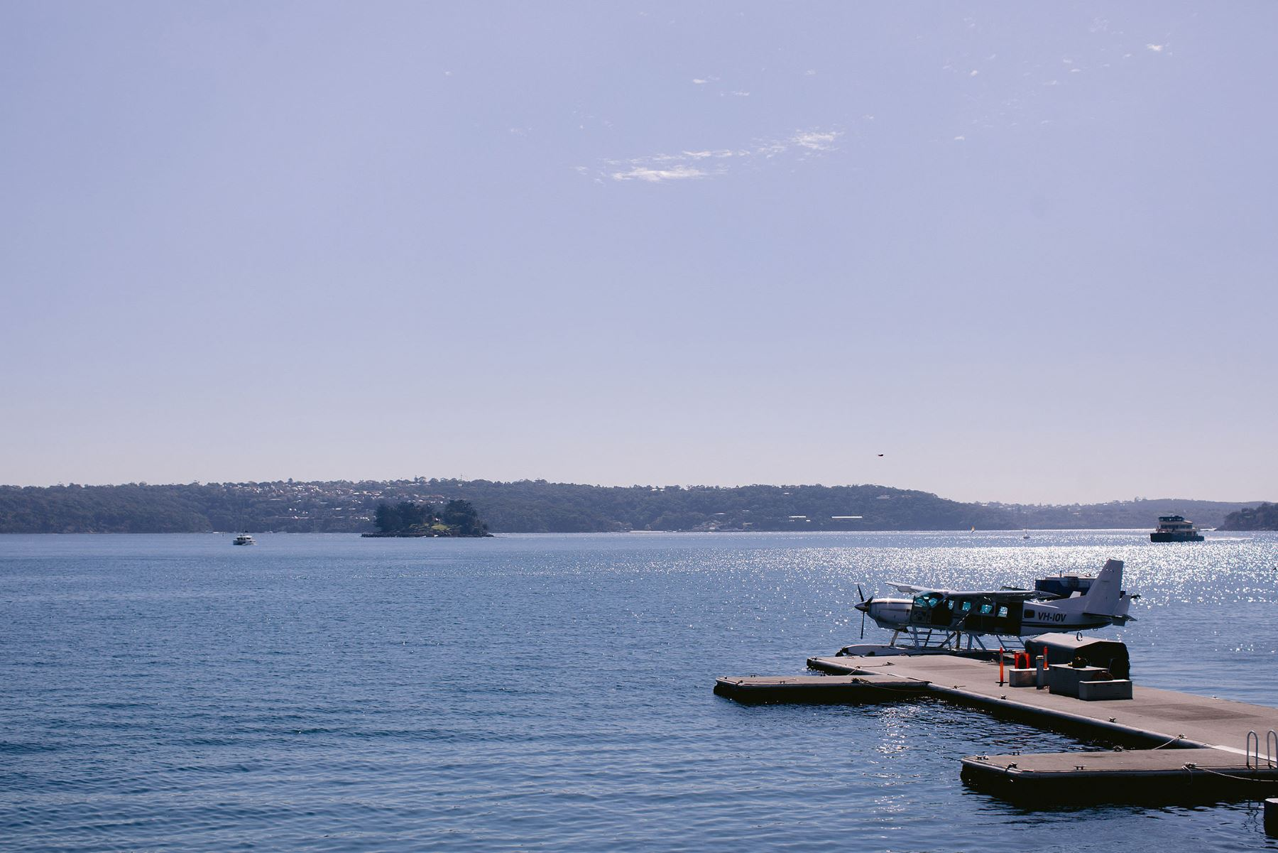 The iconic view over Rose Bay.