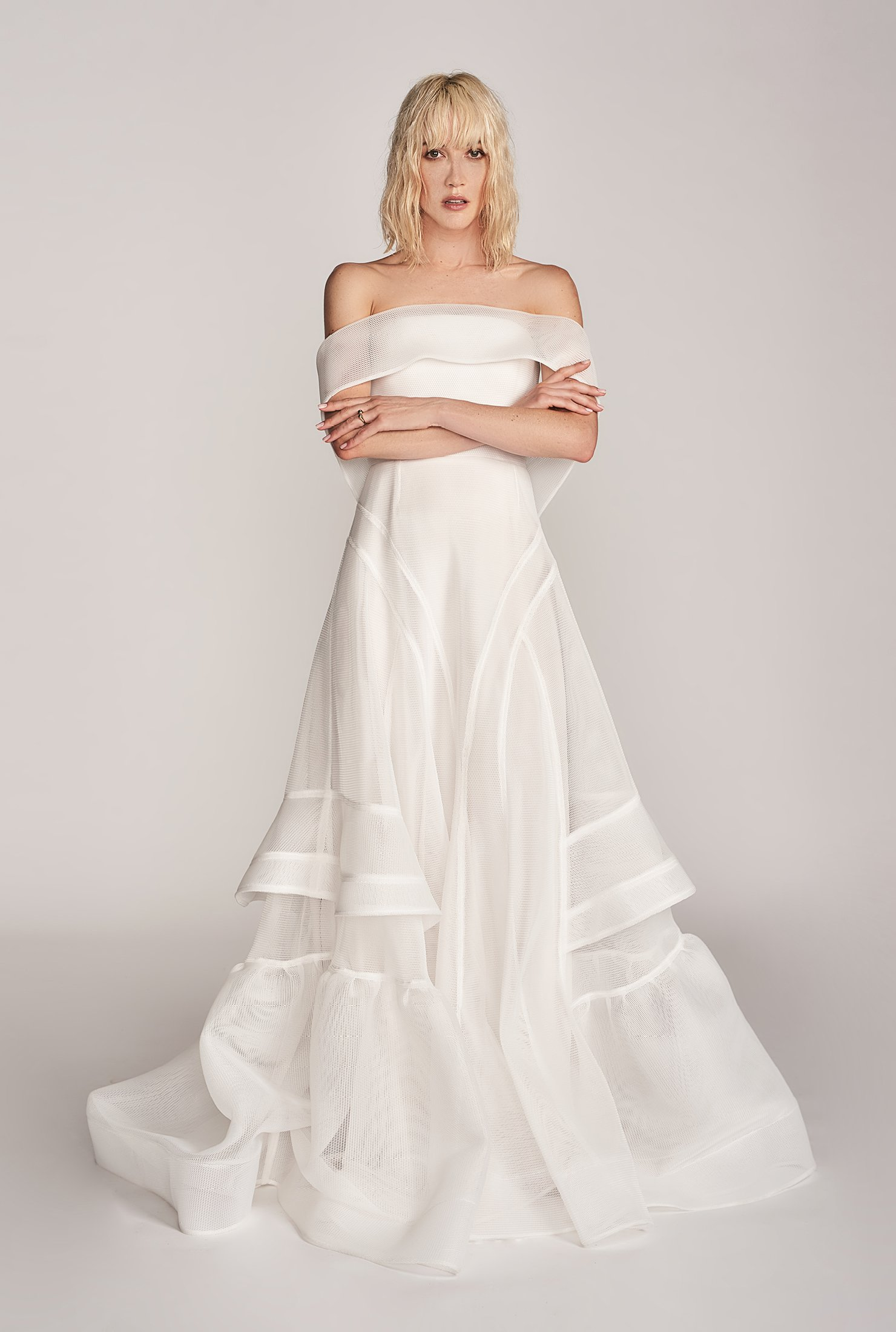 Georgia Young Met Gown, $7290,   Love Marie Bridal Boutique  , Open Ring, from $30,   & Other Stories  .