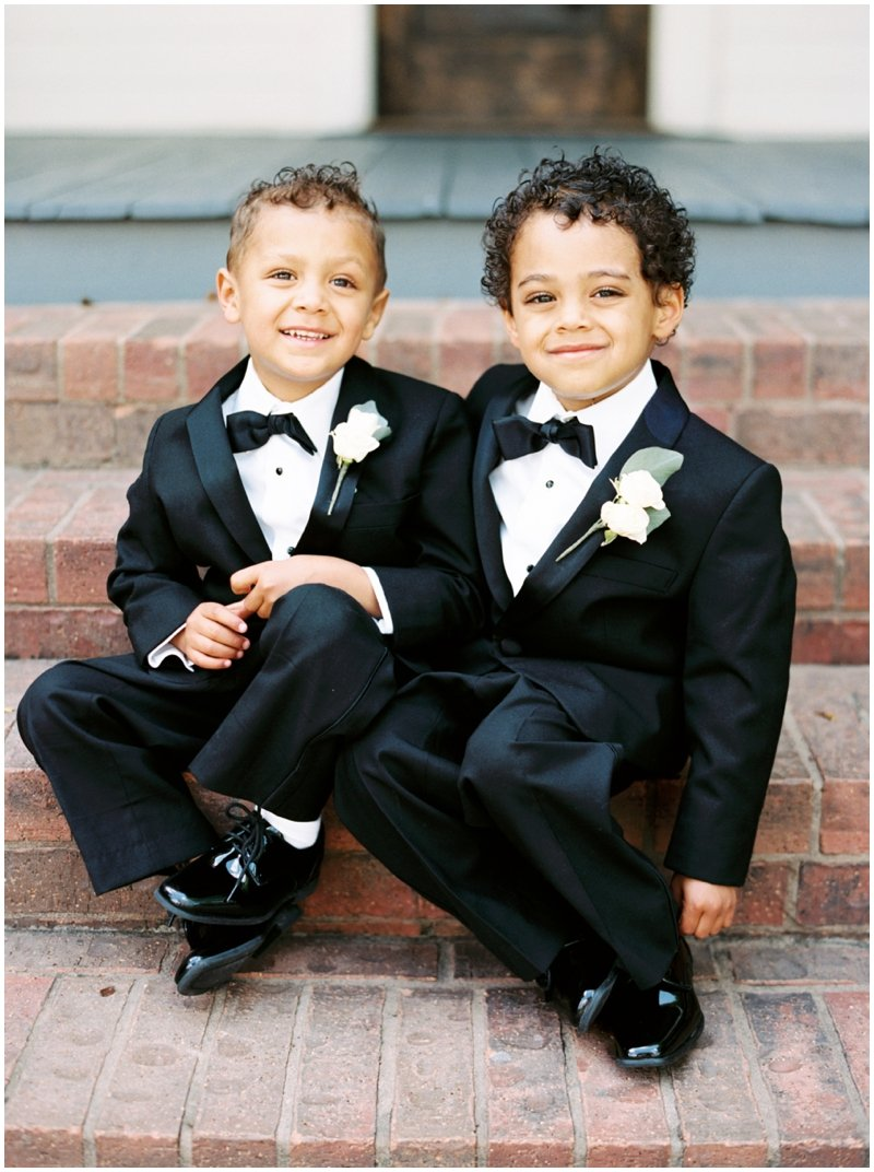 The cutest ring bearers you'll ever see  by Top Texas Wedding Photographer Hannah Mayson