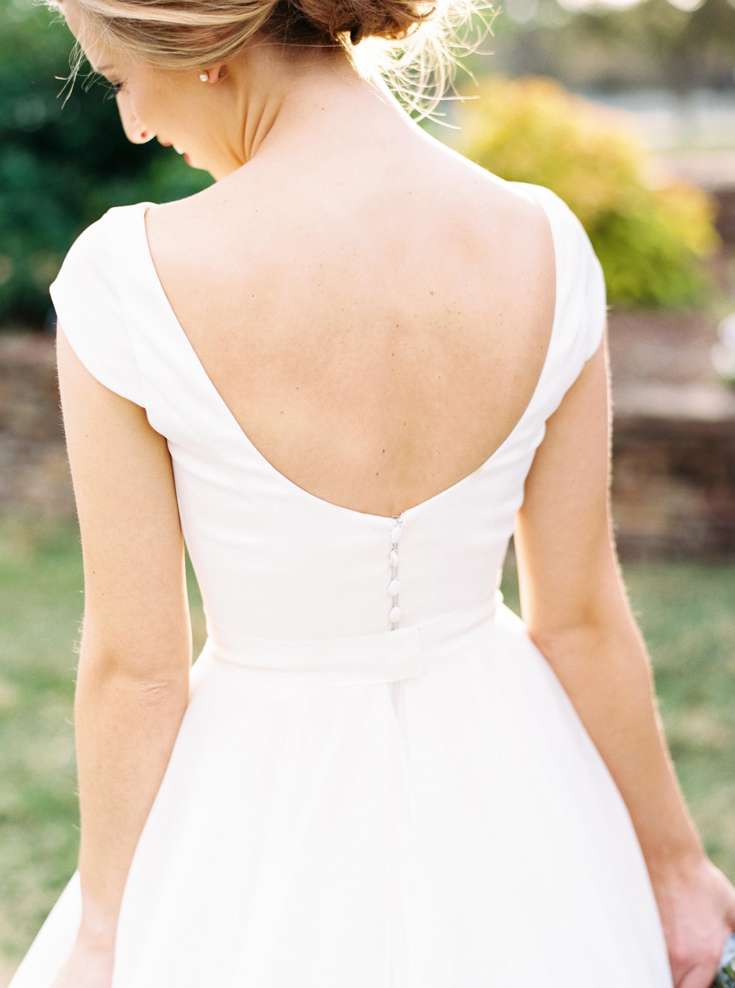 Scoop Back Wedding Gown