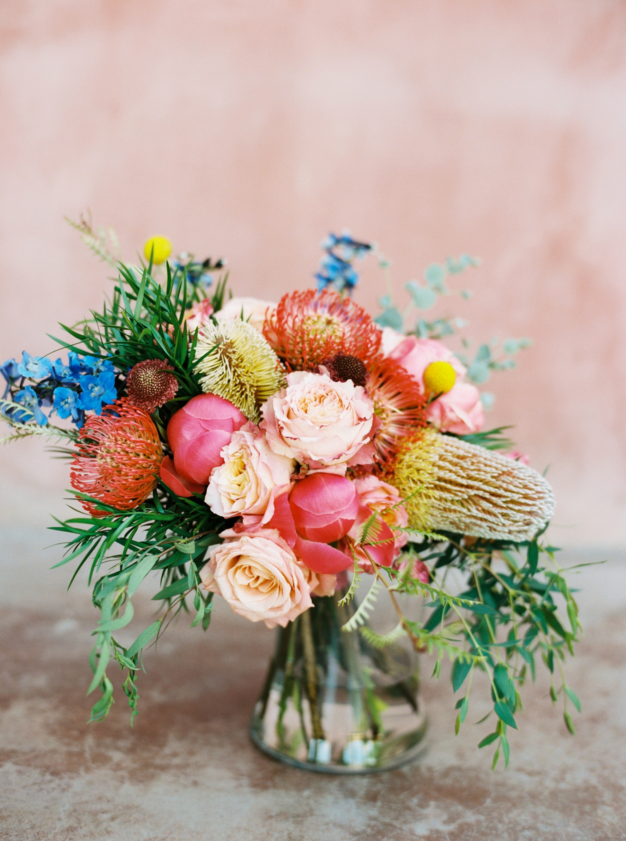 The most beautiful, colorful bouquet  by Top Texas Wedding Photographer Hannah Mayson