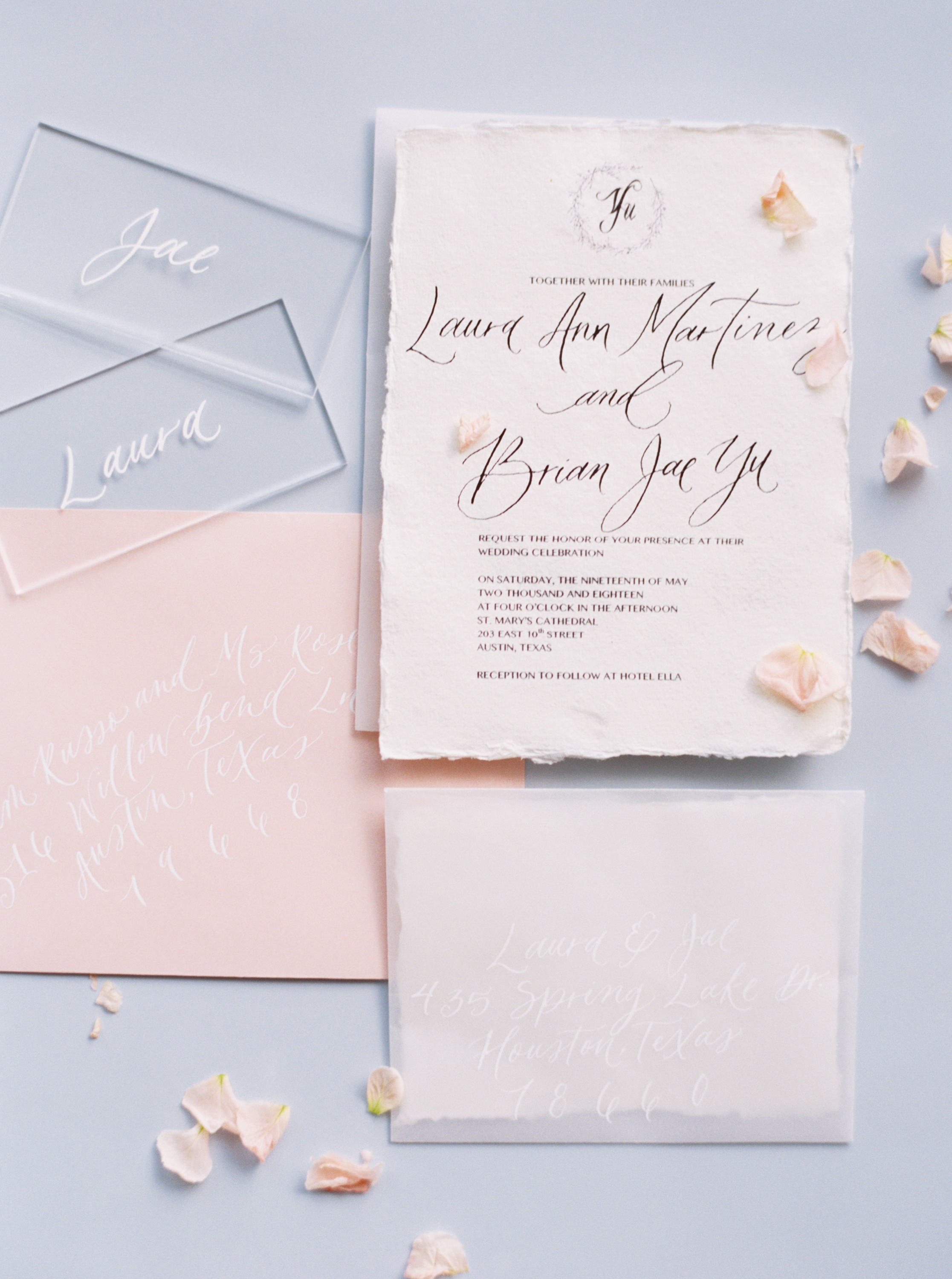 You're Invited! - If you, like us, want the wedding to be featured, help us secure an unused copy of the invitation, envelope (calligraphed is better), rsvp card, etc. Other papers details like a customized map of the area, place settings (these can be fakes as well)or welcome card to go in the goodie bag are prized possessions that publications want to see!