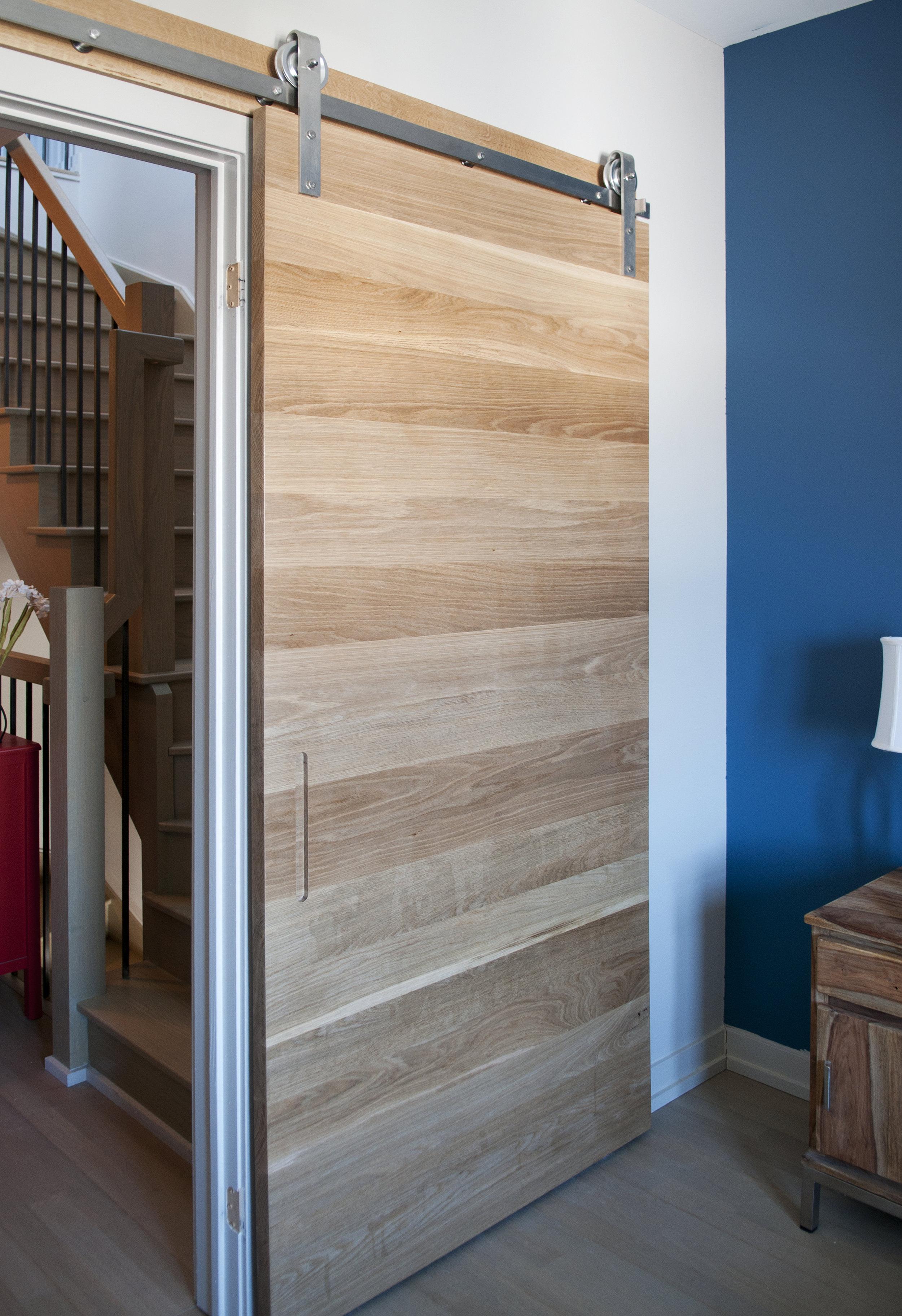 Solid white oak horizontal planks