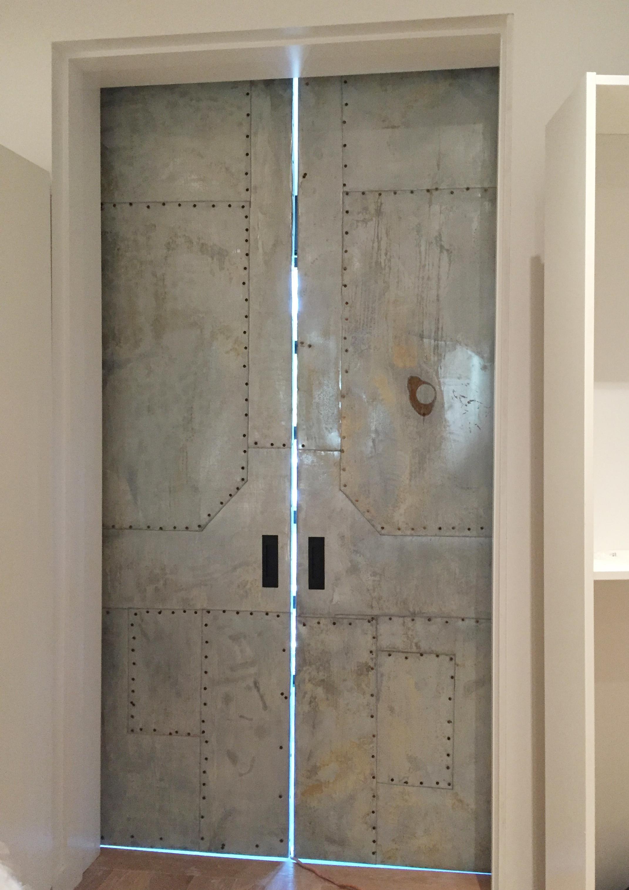 Metal quilted door