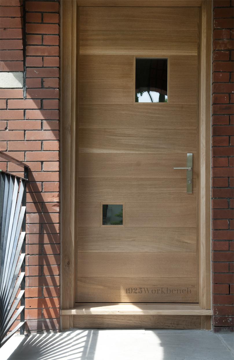 White oak door