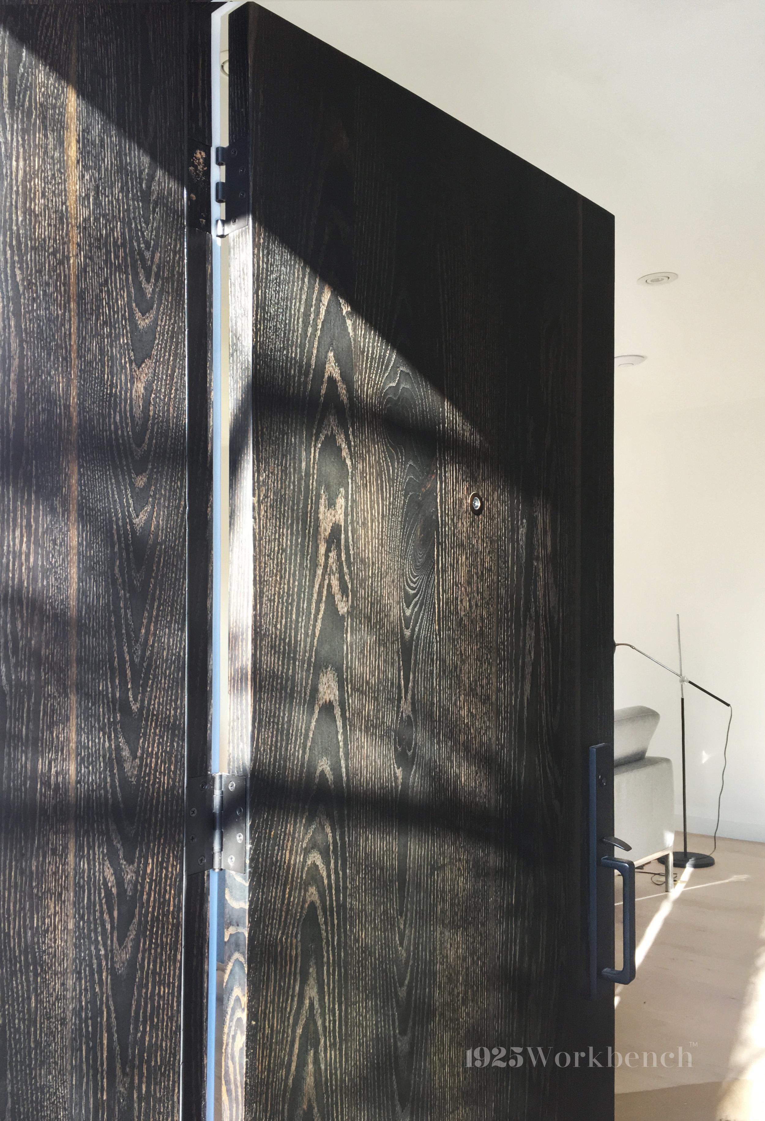 Blacken oak slab