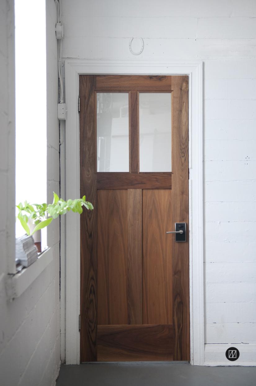 Walnut panel door