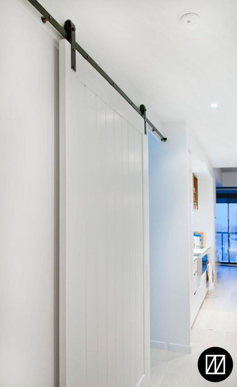 Vertical tongue and groove panel door