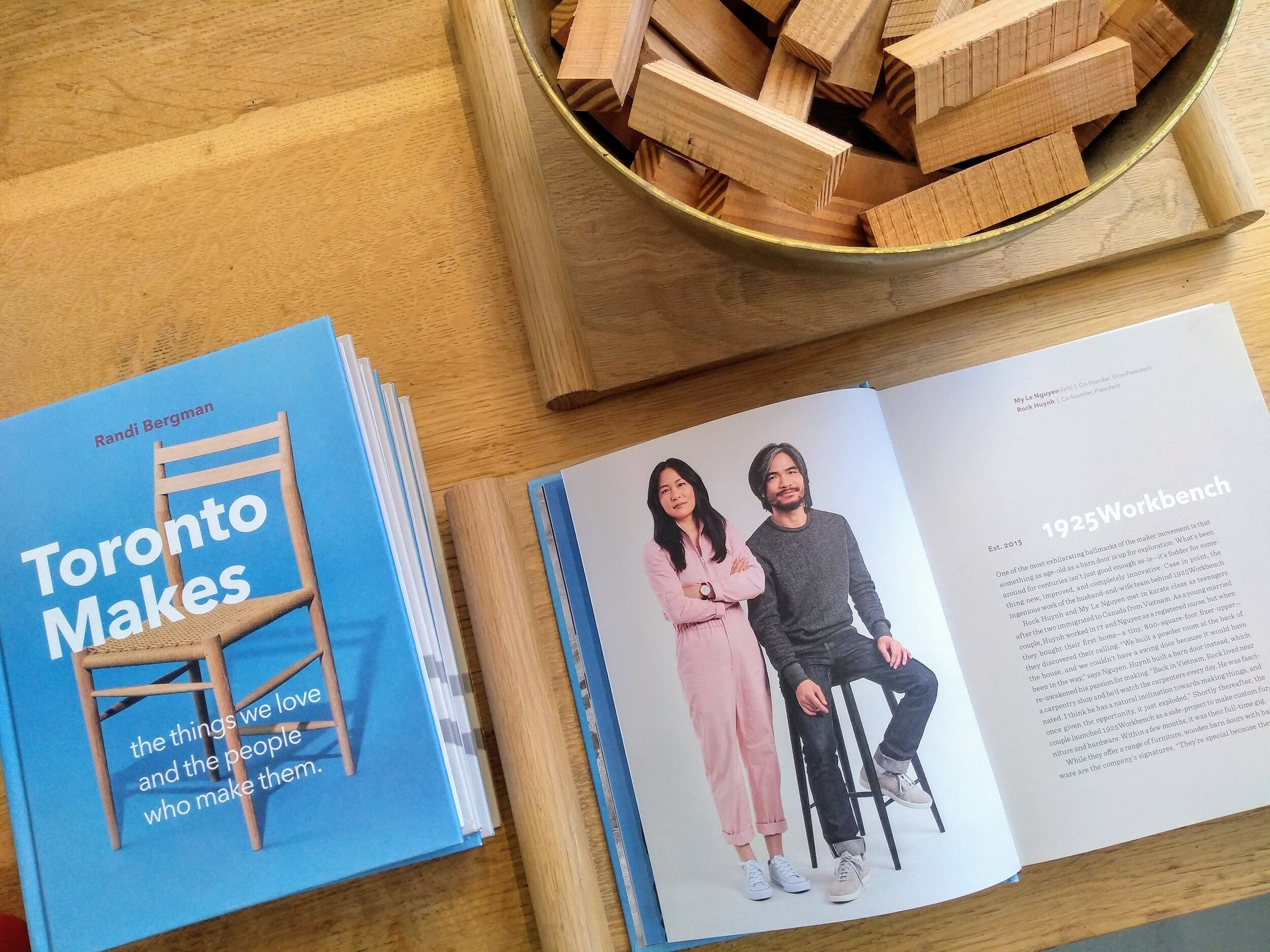 "We are delighted to be featured in Randi Bergman's ""Toronto Makes,"" released this Fall."