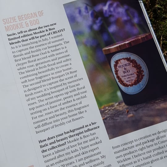 Thank you to the lovely ladies @irishcountrymag for our fab write up so excited for our new product launch @ CREATE @officialbrownthomas in store July 3rd x ... #create  #irishcountrymagazine  #irishdesign  #brownthomas  #luxury  #candles #homefragrance  #apothecary  #botanicalskincare  #summerscents  #interiors  #scentyourwedding  #inspiration  #luxuryhomes