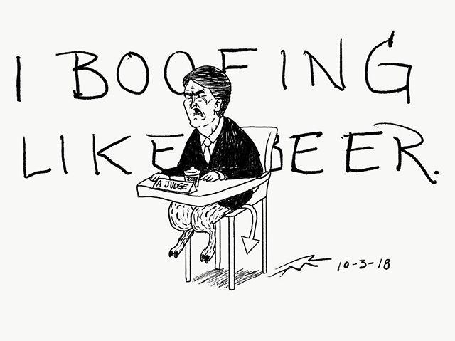 #stopkavanaugh#scotus#illustration#politicalcartoon#editorialillustration#tnycartoons#art#boofing#perjury#judgeblackout#believesurvivors#devilstriangle#fratboys#artistsoninstagram#artistsofatlanta#breathalizejustice#mcconnell#penandink#inktober#drawing#avocadotoast#ootd